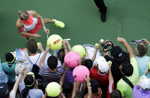 Heiße Tennispartien in New York