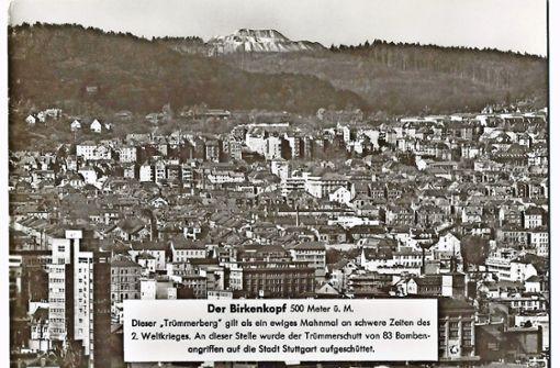Karte vom Birkenkopf aus den 1960ern. Foto: Sammlung Wibke Wieczorek