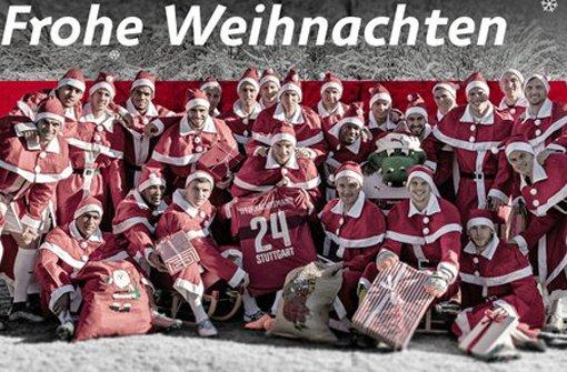Die VfB-Profis wünschen allen Fans Frohe Weihnachten. Foto: VfB