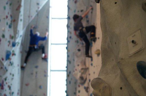 Beim Lead-Klettern gewinnt der, der am weitesten die Wand hoch kommt. Foto: Archiv Ott