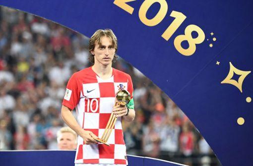 Luka Modric ist der Gewinner des Goldenen Balls bei der WM 2018. Foto: AFP