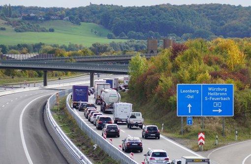 Vereinzelt Staus und stockender Verkehr