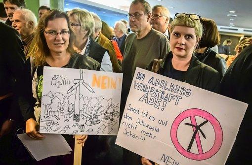 Rund 180 Zuhörer kamen am Mittwoch in die Liederhalle – die meisten waren gegen Windräder vor ihrer Haustür Foto: Lichtgut/Achim Zweygarth