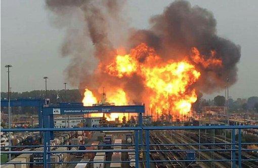 Bei der Explosion auf dem Werksgelände der BASF in Ludwigshafen sind am Montag drei Menschen ums Leben gekommen. Foto: dpa