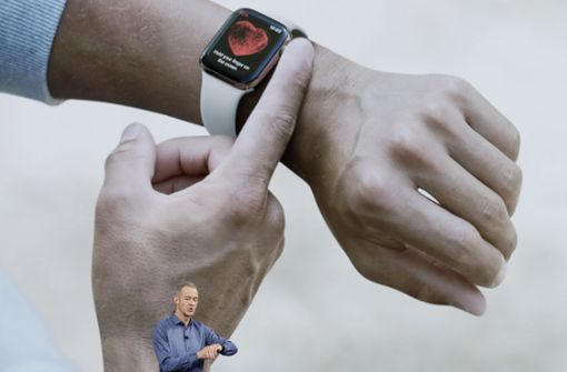 Mit einem EKG-Sensor kann die neue Apple-Watch auch Herztöne lesen. Foto: AP