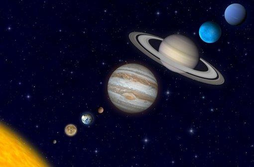 Die acht Planeten und ihre Entfernung von  der Sonne. Foto: Stefan Rajewski/Fotolia