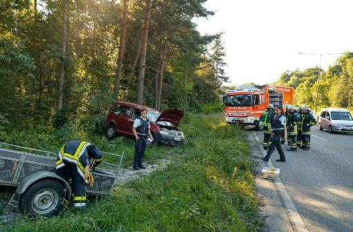 Gegen 17.45 Uhr verlor der Fahrer des Caddy die Kontrolle über sein Fahrzeug.  Foto: 7aktuell.de/Oskar Eyb
