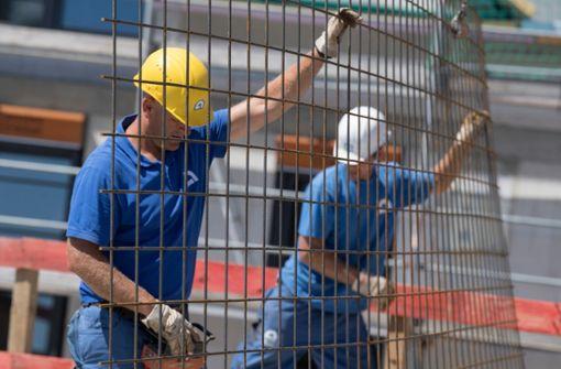 Die Baupreise steigen nur langsam