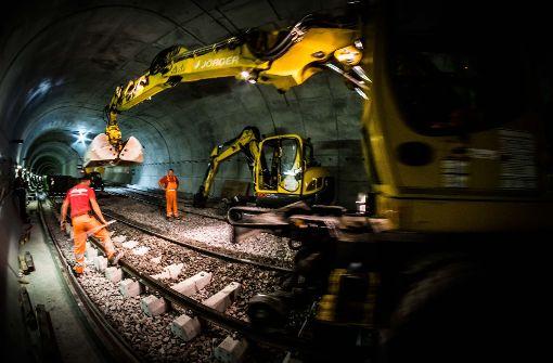 Der neue Stadtbahntunnel für die U12 unterm Mailänder Platz kommt gut voran. Foto: Lichtgut/Max Kovalenko