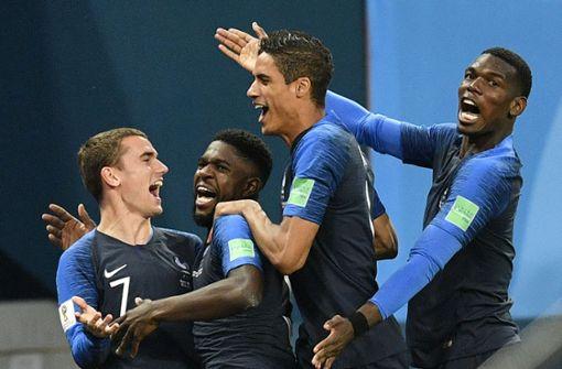 Frankreich nach 1:0 gegen Belgien im Finale