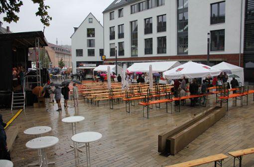 Zur Eröffnung kamen aufgrund des Regens nur wenige Gäste. Foto: Torsten Ströbele