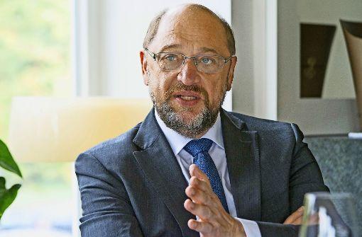 SPD-Kanzlerkandidat Martin Schulz vermisst bei merkel einen Plan für die Zukunft Foto: Daniel Kunzfeld