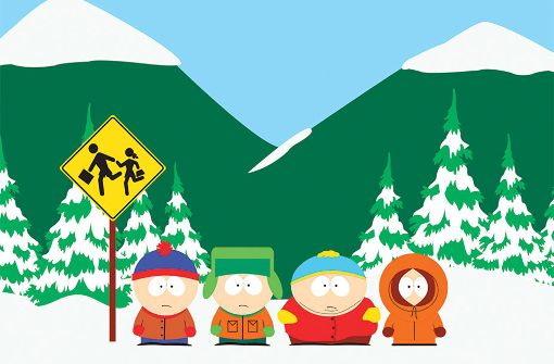 "Die ""South Park""-Kernmannschaft: Stan, Kyle, Cartman und Kenny (von links) Foto: Comedy Central"