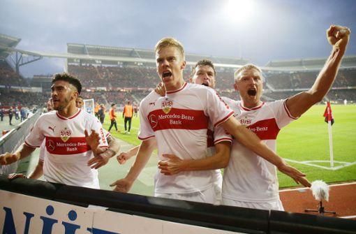 Und der VfB Stuttgart durfte endlich wieder über ein Tor jubeln. Foto: Pressefoto Baumann