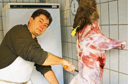 Frisches Fleisch vom Wildschwein