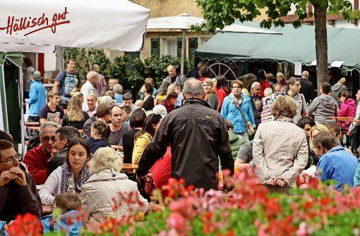 Beim Ditzinger Hafenscherbenfest treffen sich auch Nachbarn, die sich sonst nicht sehen, und ehemalige Klassenkameraden. Foto: factum/Bach