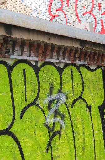 Mauer an der Schickhardtstraße. Foto: Sybille Neth