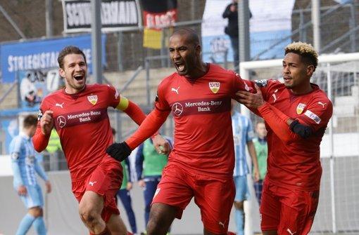 Doppeltorschütze in Köln: VfB-II-Stürmer Cacau (Mi.) Foto: Baumann