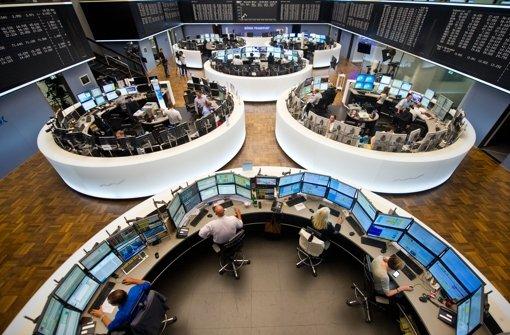 Handelssaal der Frankfurter Börse Foto: dpa