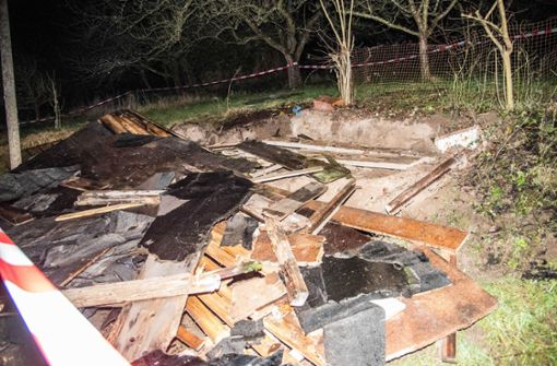 Mann stirbt bei Einsturz eines Holzschuppens