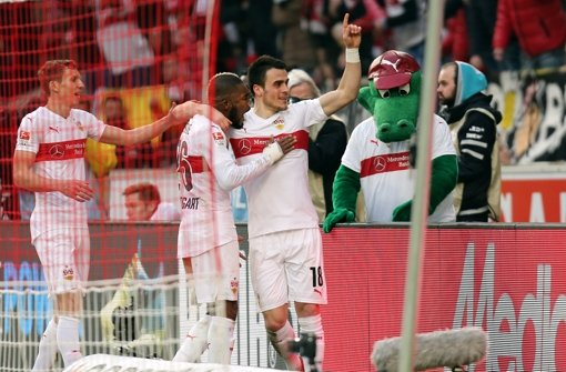 Der VfB Stuttgart jubelt gegen die TSG Hoffenheim gleich fünf Mal. Foto: Pressefoto Baumann