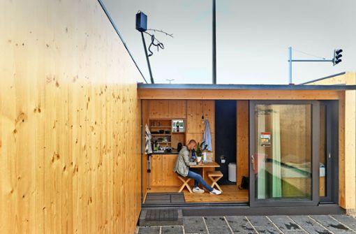 Die Wohnfläche des Mikrohofhauses beträgt 7,3 Quadratmeter. Foto: factum/Granville