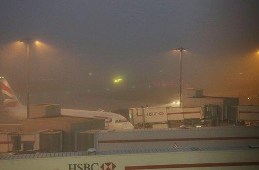 Nebel bremst Flugverkehr aus
