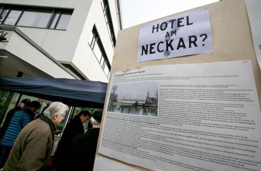 Von einem Hotel am Neckar ist keine  Rede mehr