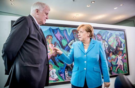 Merkel trifft nach ihrem ergebnislosen Treffen mit Innenminister Seehofer die Länder-Chefs. Foto: dpa