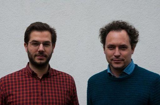 Die Rechtsanwälte Frederik Gärtner (links) und Daniel Halmer haben ein Onlineportal gegründet, das Mietern helfen soll, die Mietpreisbremse durchzusetzen. Foto: wenigermiete.de
