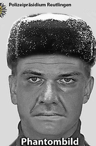 Das Phantombild des gesuchten Mannes. Mögliche Hinweise nimmt die Polizei unter der Telefonnummer 0711/3990-0 entgegen. Foto: Polizeipräsidium Reutlingen