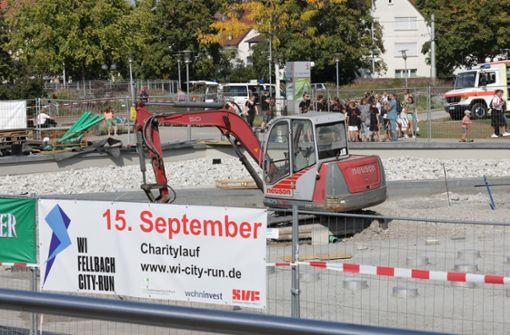 Der Charitylauf führt an der Baustelle für die Remstal Gartenschau vorbei. Foto: Patricia Sigerist