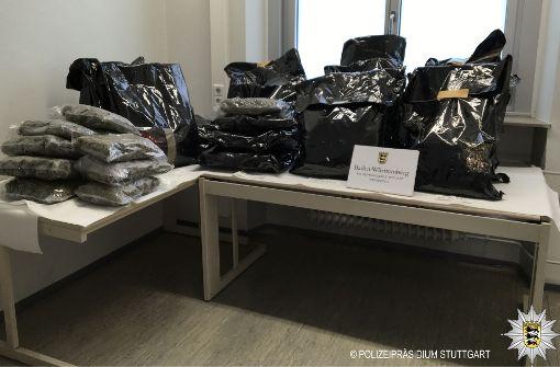 Die Polizei hat in Stuttgart 26 Kilogramm Marihuana beschlagnahmt. Foto: Polizeipräsidium Stuttgart