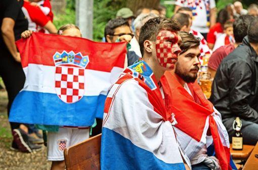 Fans in Geislingen haben mit der kroatischen Mannschaft mitgefiebert. Foto: Michael Steinert