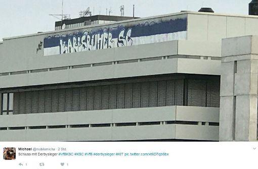 KSC-Fans kontern VfB-Graffito an Karlsruher Uni