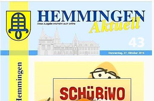Die Regeln für das Hemminger Amtsblatt ändern sich. Foto: red