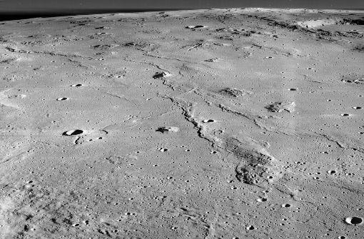 Die Marius Hills im Ozean der Stürme auf dem Mond. Foto: Wikipedia commons/NASA/James Stuby CC0