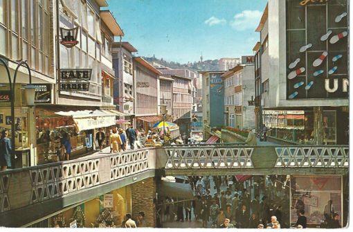 Die Schulstraße in Stuttgart in den 1960er Jahren. Foto: Sammlung Wibke Wieczorek