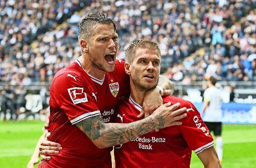 Daniel Ginczek (li.) und Simon Terodde wollen gemeinsam Erfolg haben. Foto: Baumann