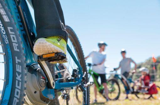 E-Bike-Fahren auf der Alb