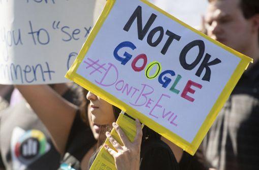 Gegen Google wurde zuletzt massiv protestiert. Foto: FR34727 AP