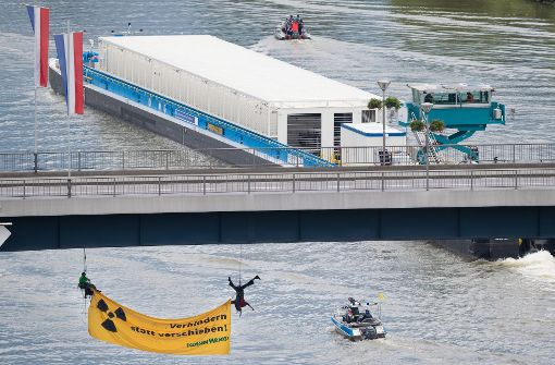Fahrt auf dem Neckar fortgesetzt