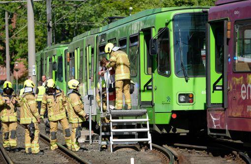 Mehrere Verletzte bei Stadtbahn-Kollision
