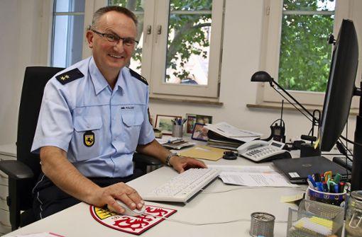 Der neue Polizeichef ist VfB-Fan