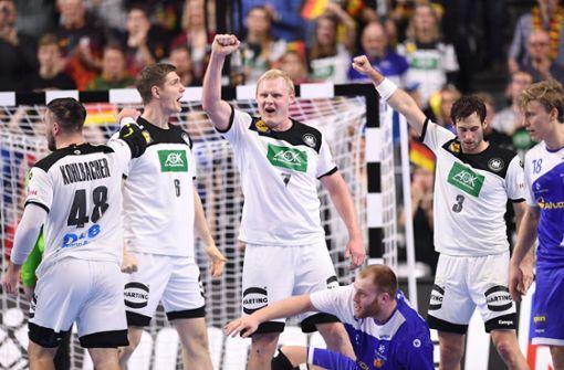 Deutsche Handballer besiegen Island