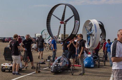 Beim Rennen in Den Helder traten die Stuttgarter Studenten aber nur mit einem Rotor an. Foto: Inventus