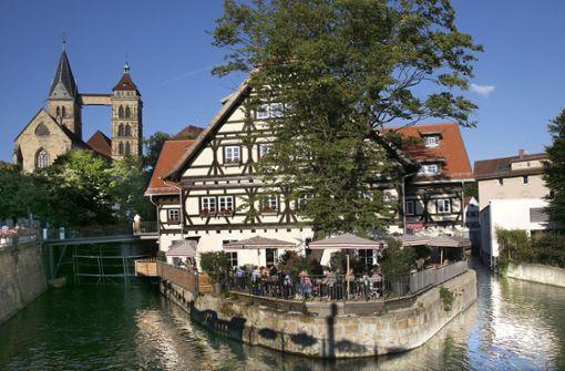 Die Esslinger Gastronomen haben auch exponierte Plätze für Freiluftgenießer. Foto: Ines Rudel