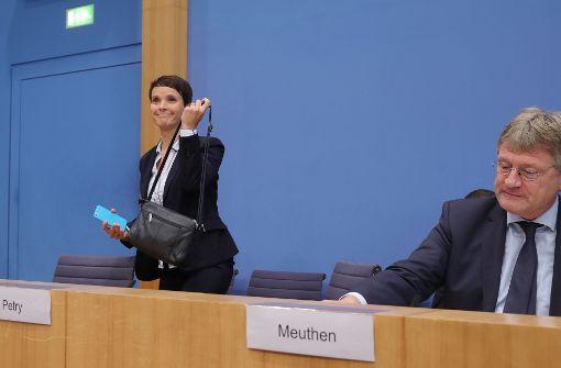 Meuthen fordert Frauke Petry zu Austritt auf