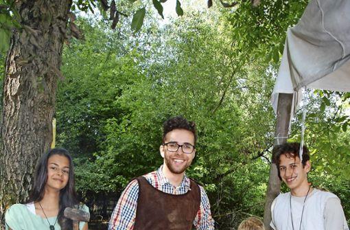 Anju, Severino, Alexander und Lean (von links) in Akitaniens Schmiede. Foto: