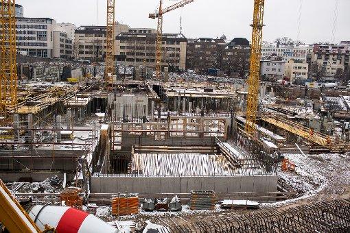 Das neue Stadtquartier im Europaviertel wächst: Klicken Sie sich durch die Baustellenbilder des Milaneo ... Foto: www.7aktuell.de | Florian Gerlach